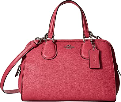Image Unavailable. Image not available for. Color  COACH Womens Pebbled  Leather Mini Nolita Satchel ... 8f8b746b1d