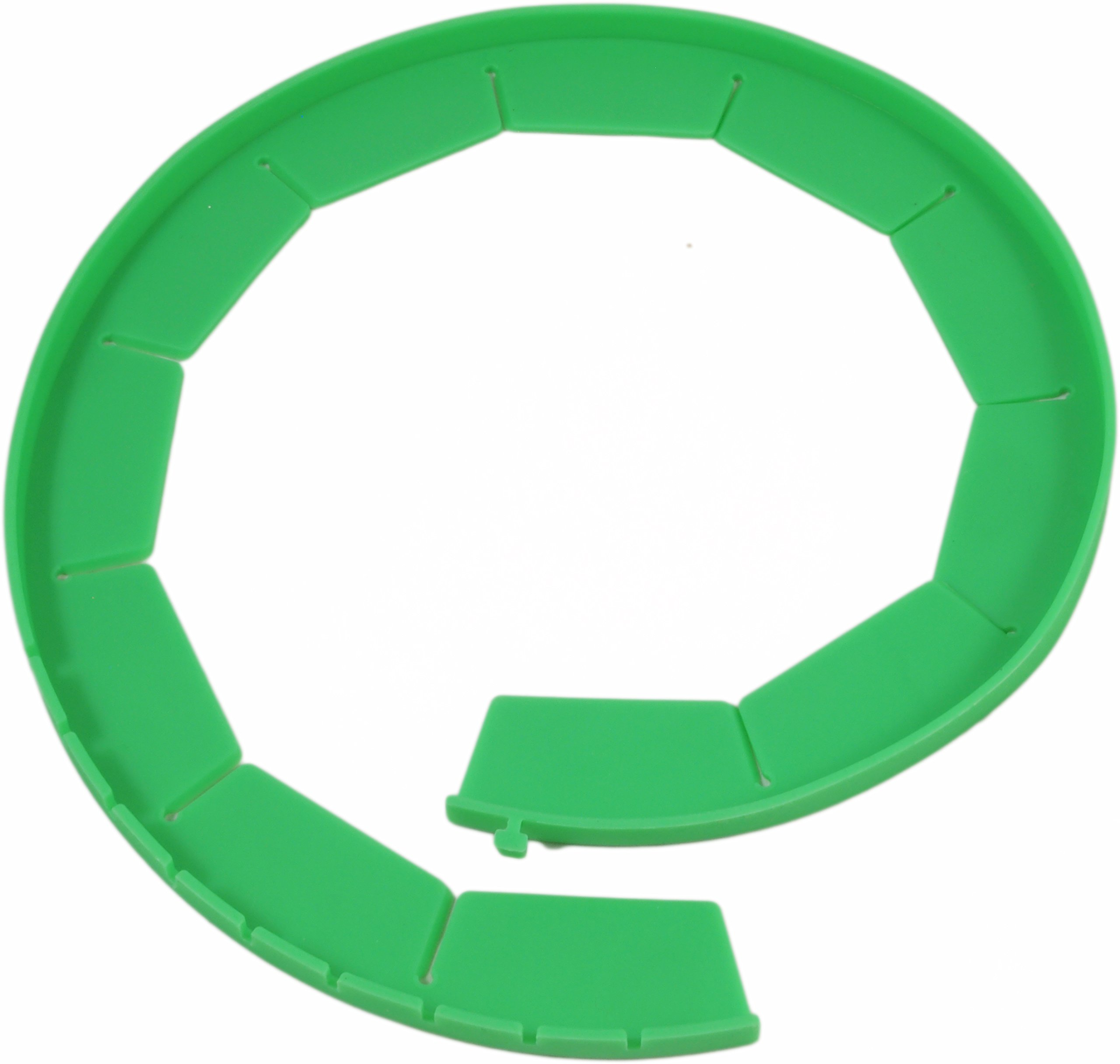 Silicone Pie Crust Shields (2 pack), Adjustable Pie Protectors, Green by Cornucopia Brands (Image #5)
