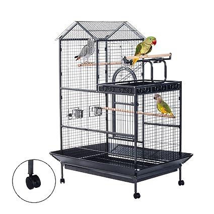 Pawhut Jaula Aviary Pájaros Canario Periquito Periquito ...