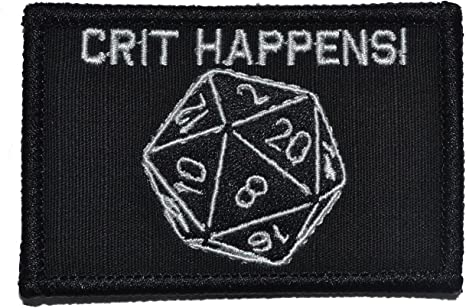 D20 Patch Tabletop Gaming Patch DnD Patches This Is How I Roll Patch