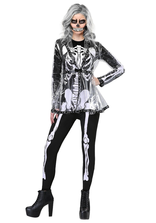 Women's Fierce Skeleton Fancy Dress Costume Large