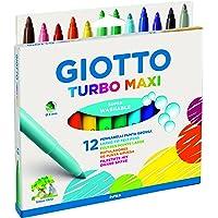 Giotto 454000 Turbo Pennarelli, Turbo Maxi Punta Larga, 5 mm, Confezione da 12