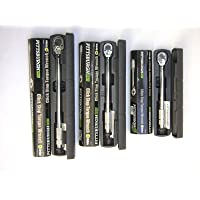 "Set of 3 Pittsburgh Pro Reversible Click Type Torque Wrench Sizes 1/4"", 3/8"", 1/2"""