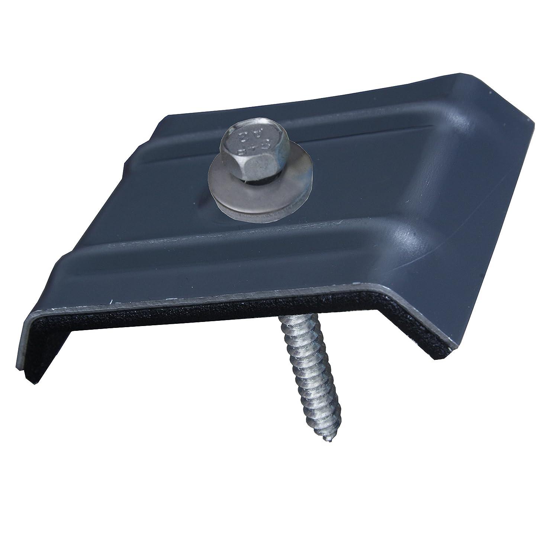 100x Kalotten Trapezblech Profilbleche Trapezform 35//207 Aluminium mit EPDM-Dichtung oxirot RAL 3009