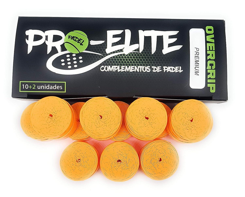 overgrips Pro Elite Premium Perforados Naranjas Flúor. Caja 10+2 unds.: Amazon.es: Deportes y aire libre
