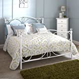 Hf4you Panache Classic Metal Bed Frame - 4FT6 Double - White - Frame Only