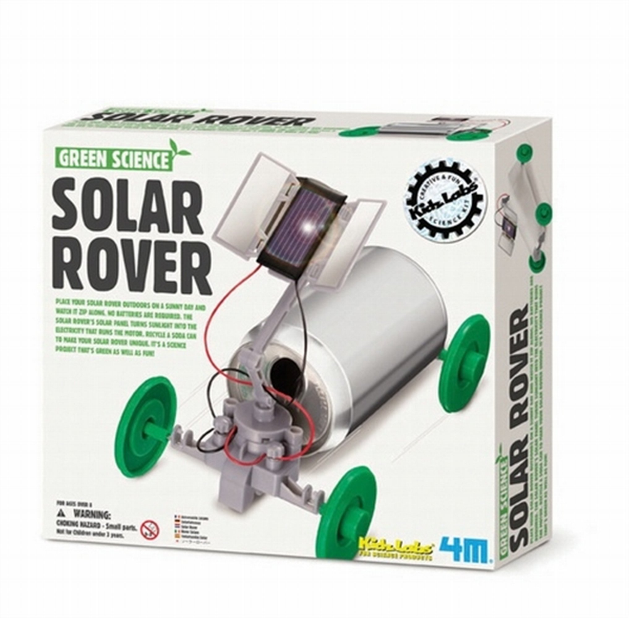 4M ''Green Science Solar Rover Toy (Multi-Colour)