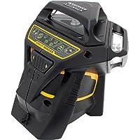 Stanley FatMax Niveau laser X3G, nivellement automatique avec diode verte, lunettes de vision de faisceau laser vertes, chargeur et mallette de transport, 1pièce, FMHT1–77356