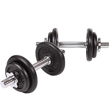 ScSPORTS - Pesas para halteras (20 kg, 2 Barras Cortas, 4 Unidades ...