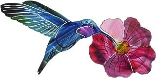 product image for Next Innovations WA3DHUMMIFLRFS CB Hummingbird with Flower Refraxions 3D Wall Art, Fuchsia