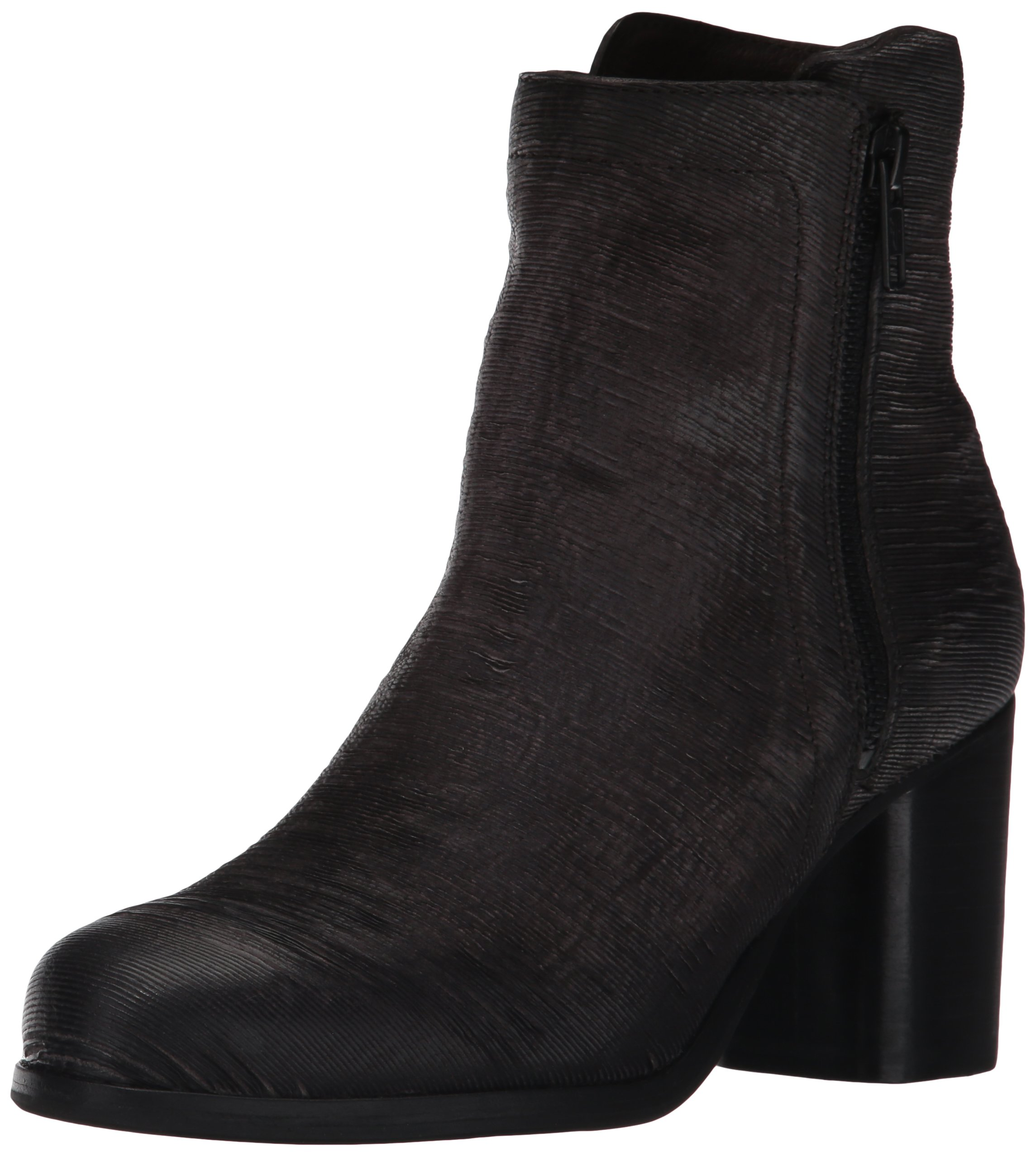 FRYE Women's Addie Double Zip Boot, Charcoal Cut Vintage Leather, 8.5 M US