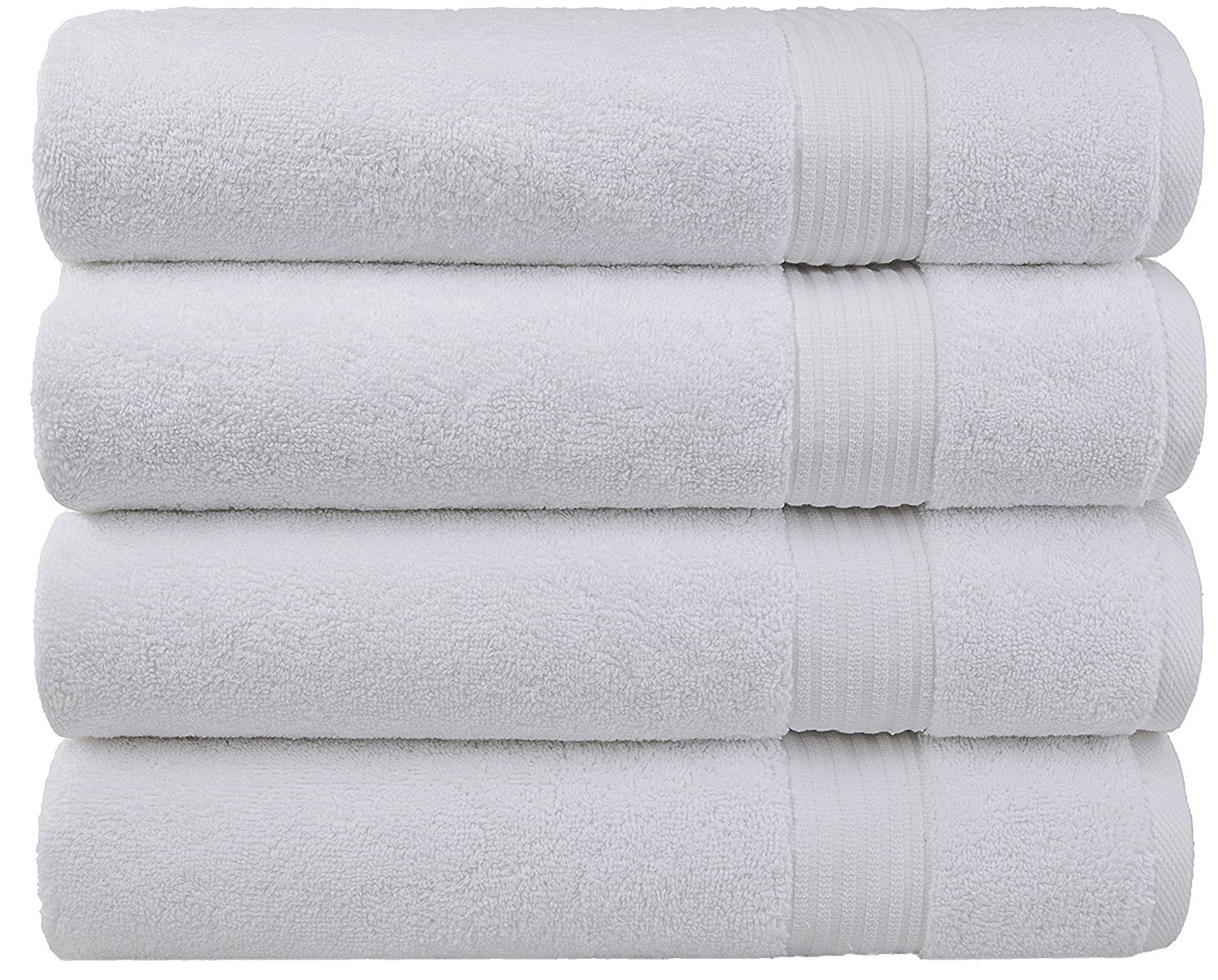 Cotton Paradise 2018 (New Collection) Luxury Hotel & Spa Collection Oversized 27'x54' Extra Large Bath Towel Set, 100% Combed Cotton and Eco-Friendly, Set of 4 (Snow White)
