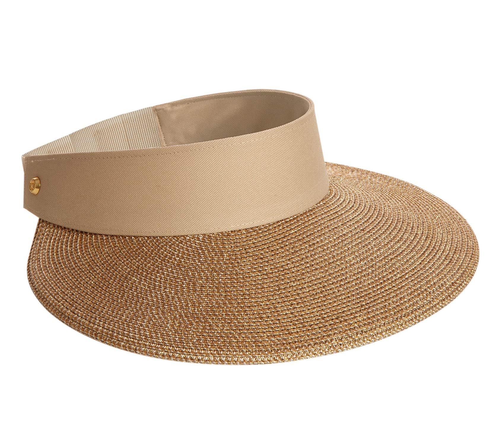 Eric Javits Women's 12164 Headwear Hat Champ II Custom Fit Visor Gold Sand