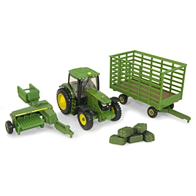 Ertl Collectibles John Deere 6210R Tractor Baling Set: Toys & Games