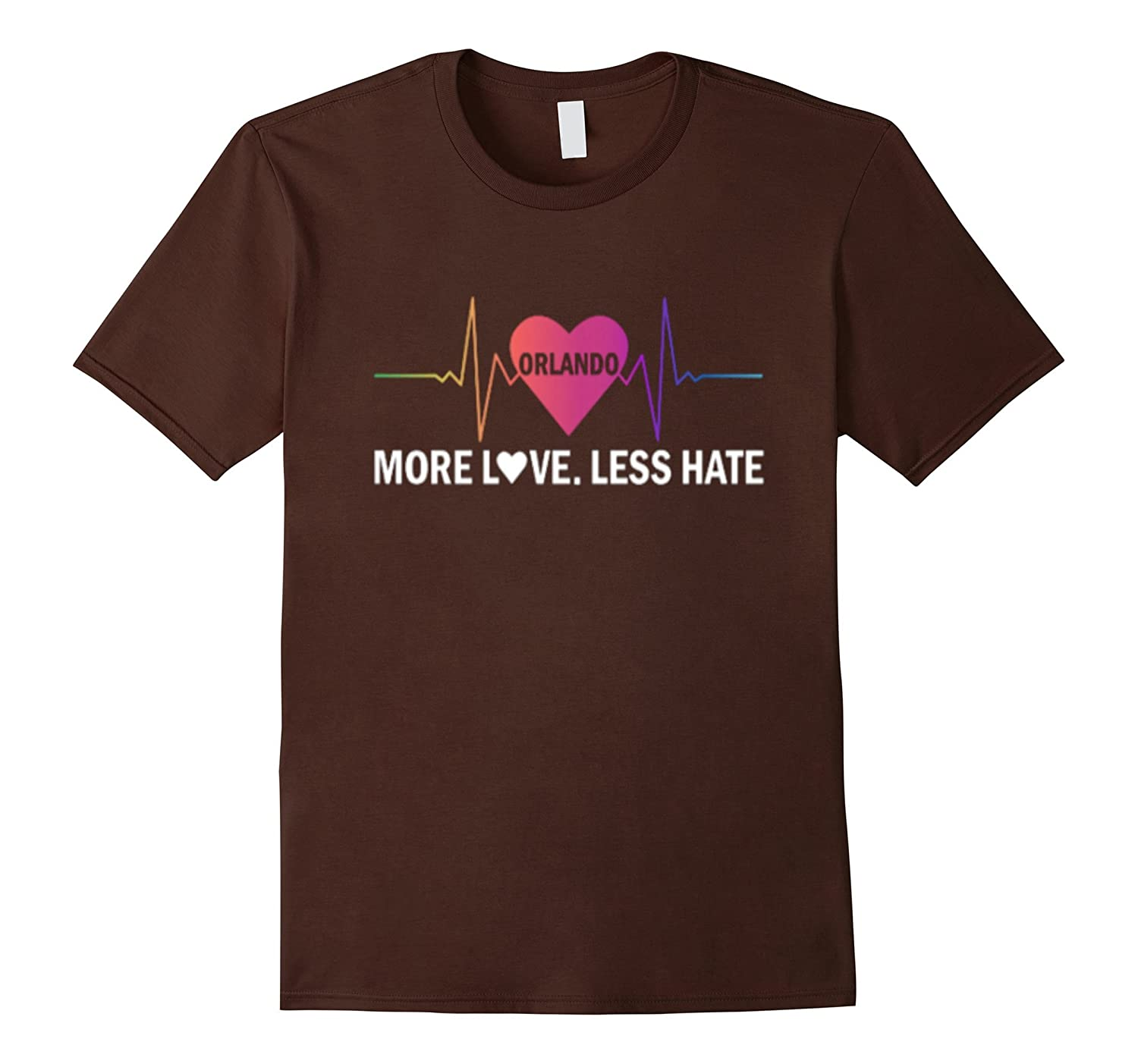 More love less hate Orlando Heartbeat t shirt-CD