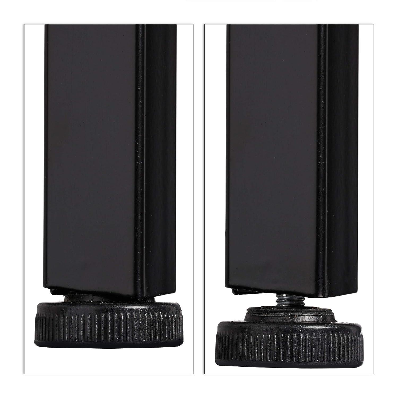Books etc Black Relaxdays Standing Bookcase Plants PB iron HWD: 136 x 44 x 31.5 cm Modern Ladder Rack with 4 Shelves