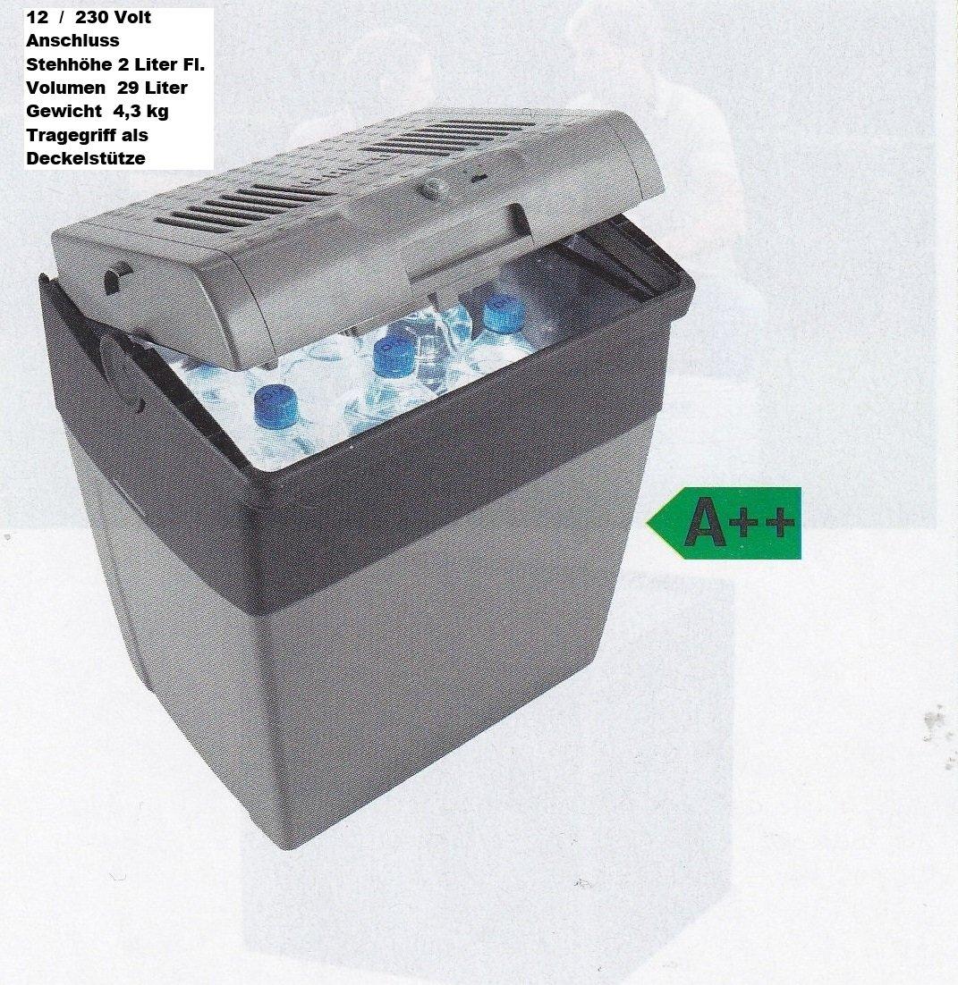 Lieferbar ab 2 / 2016 - WAECO Thermoelektrische 29 Liter KÜHLBOX mit Anschlusskabel 12 Volt mit STEHHÖHE für 2 Liter Flaschen - COOLFUN CX 30 - KÜHLLEISTUNG BIS 18 ° C unter Umgebungstemperatur - BETRIEB MIT STROM 12 / 230 Volt - Fassungsvermögen 29 Liter Inhalt - VERTRIEB durch - Holly ® Produkte STABIELO ® - holly-sunshade ® - patentierte Innovationen im Bereich mobiler universeller Sonnenschutz - Made in Germany -