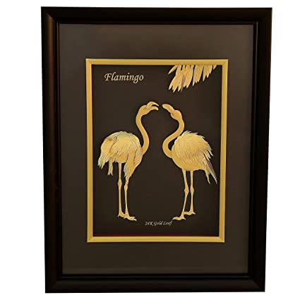f2865d37803f Buy PBK Retails 24Karat Pure Flamingo Gold Frame 3-D Wall Hanging Frame in  Black and Golden Finish Online at Low Prices in India - Amazon.in