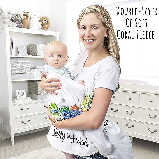 Amazon.com: Manta de bebé con diseño de hito mensual, doble ...