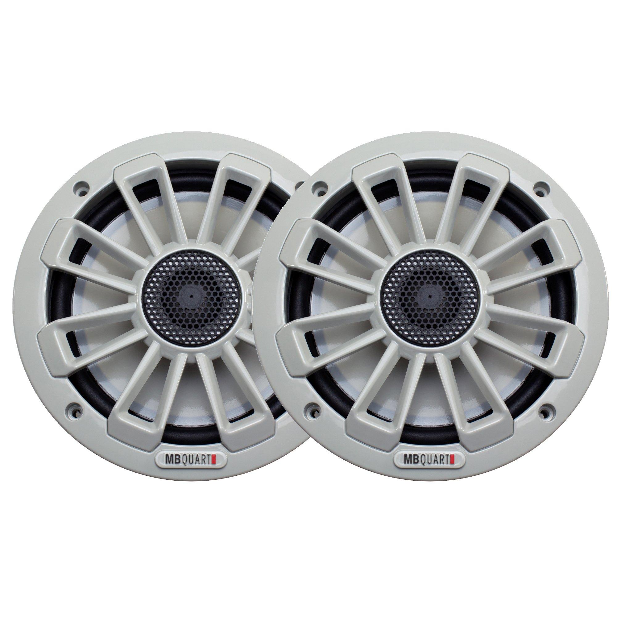 MB Quart NK1-116 Nautic Series Light Gray 6-3/4'' Marine Speakers (Pair)