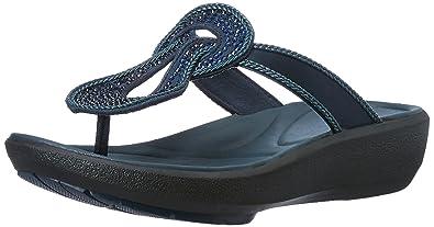 7ff7bd746b0c Clarks Women s Wave Glitz Blue Fashion Sandals - 8 UK India (42 EU ...