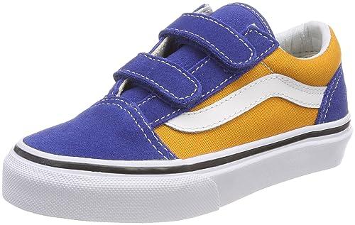 Vans Old Skool V, Zapatillas Unisex Niños, Varios Colores (Pop), 34.5 EU