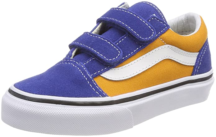 Vans Unisex-Kinder Old Skool V Sneaker Gelb Blau