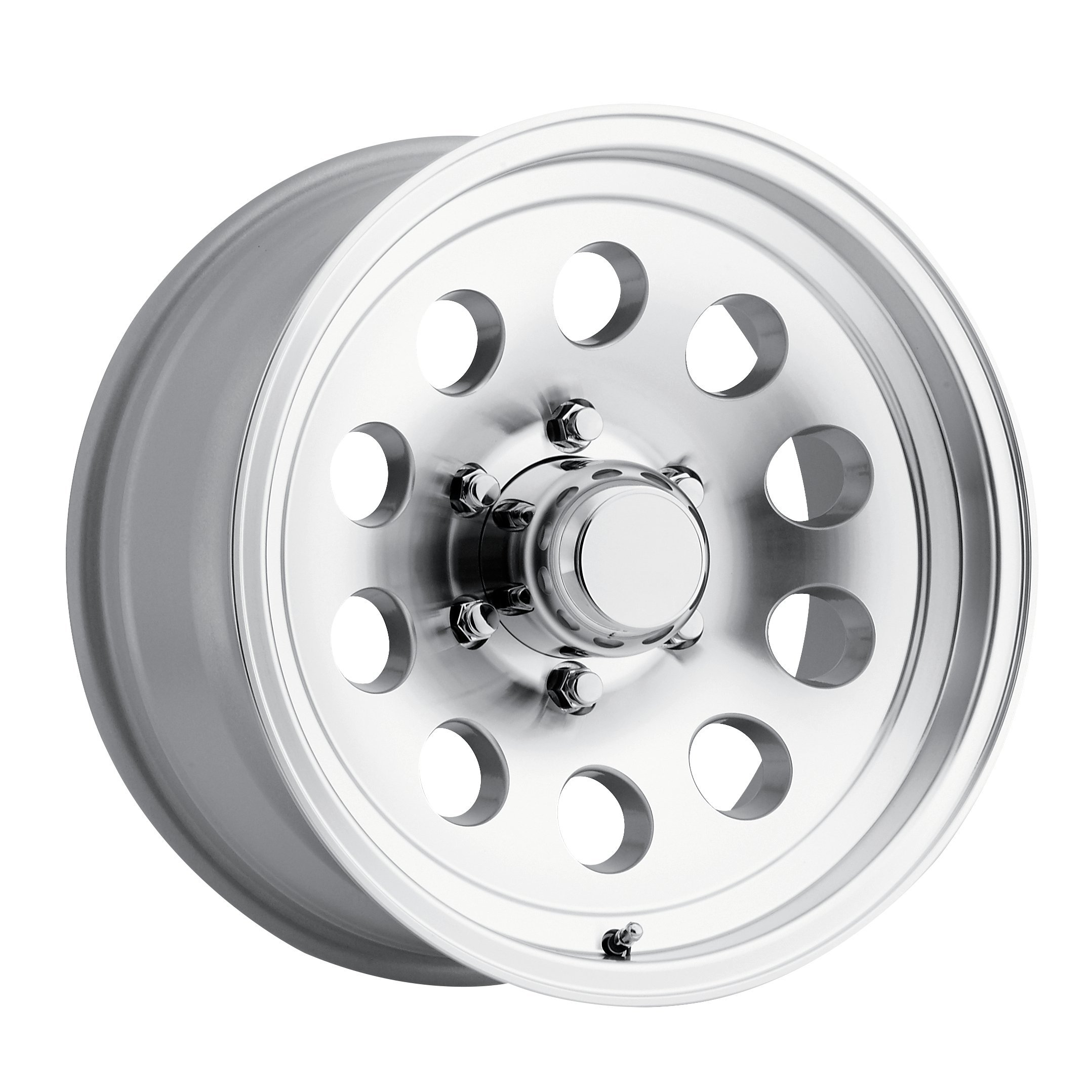 SENDEL S20 ALUMINUM TRAILER WHEEL WITH MACHINED FINISH 16X6 8X6.50(165.1)  +0 4.90