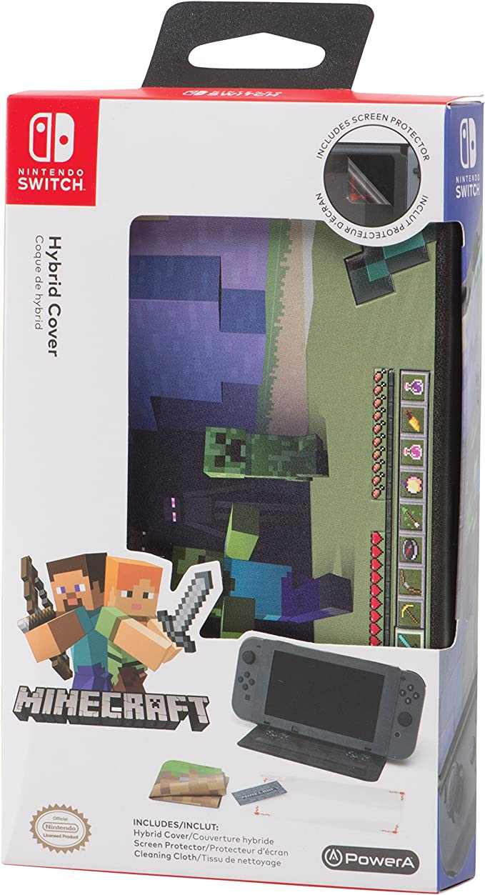 PowerA - Funda protectora con soporte incorporado Minecraft World ...
