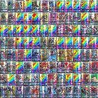 Pokekaarten, 100 stuks Pokekaarten, inclusief 20 GX-verzamelkaarten + 59 EX-Pokekaarten + 20 mega-Pokekaarten + 1 Poke…