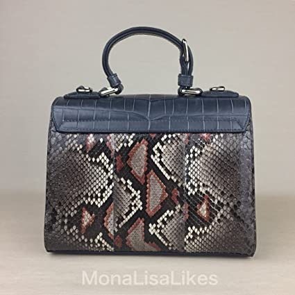 72126b0716a new concept 1d13f 41cc4 DOLCE GABBANA Miss Monica Crocodile Python Snakeskin  Leather Light Blue Brown Sicily ...