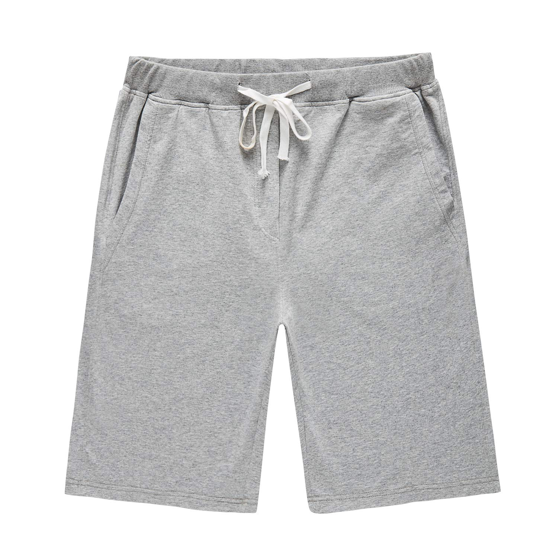 BJGXFMQ Men's Cotton Jogger Gym Shorts Elastic Casual Running Active Short Grey X-Large