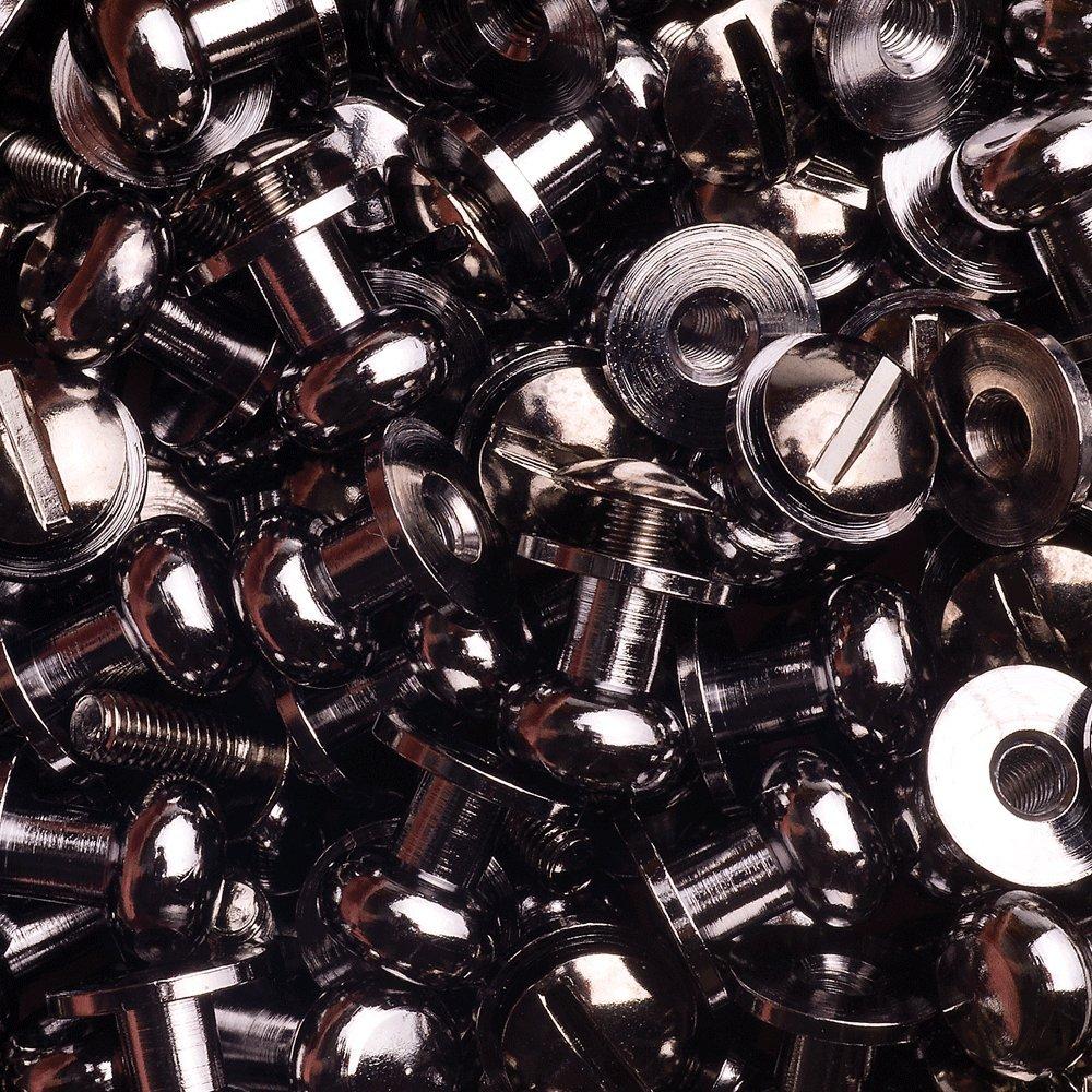 15 de bot/ón de fijaci/ón de remaches de cartuchos de bolsillos de hacha con bolsillos de botones de Bot/ón remaches de cierre para atornillar y setas de la cabeza de tornillos de 8 mm de n/íquel-ennegrecido