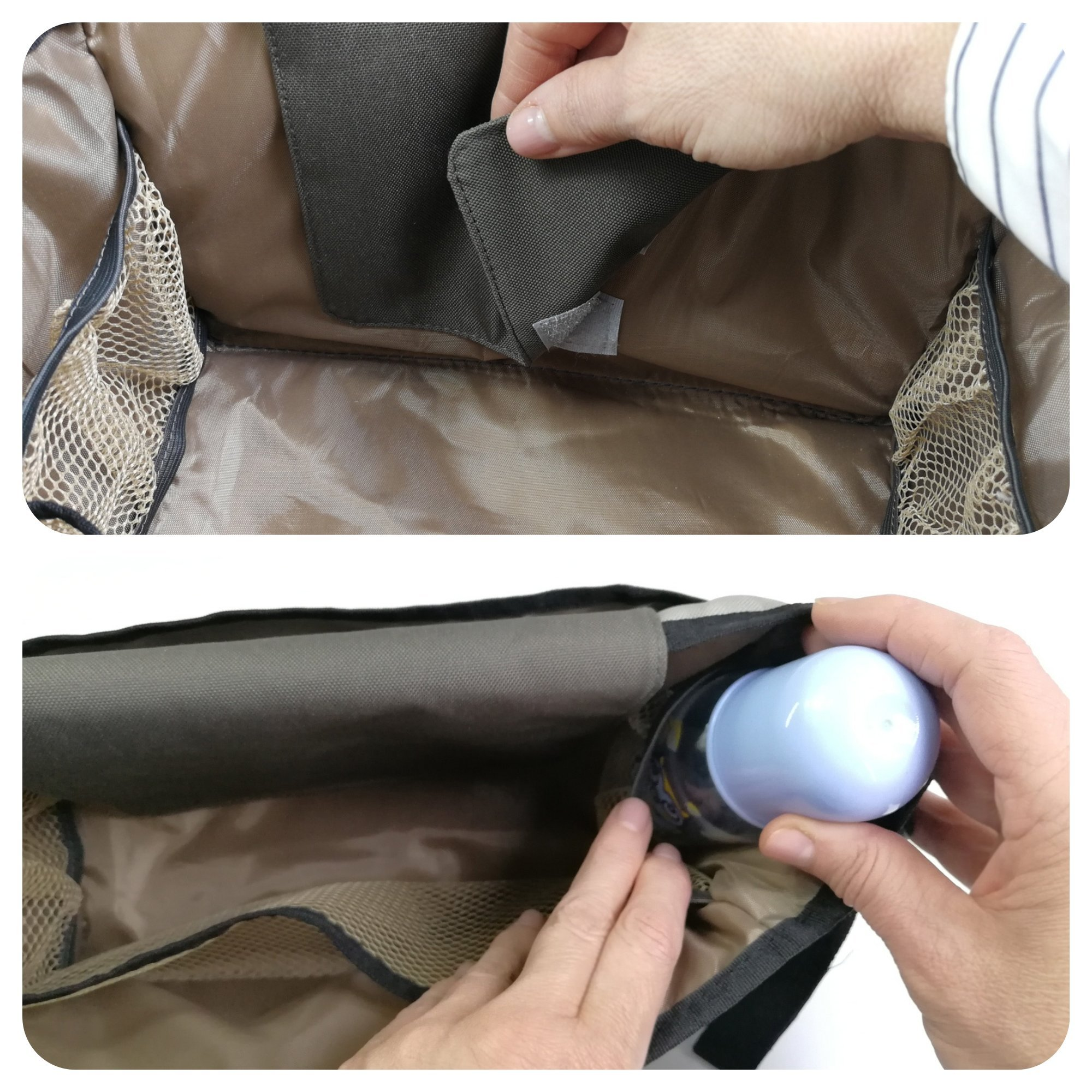 My FL Universal Baby Stroller Organizer Bottle Cloth Diapers Holder Hanging Storage Bag (Black Triangle) by my FL (Image #7)