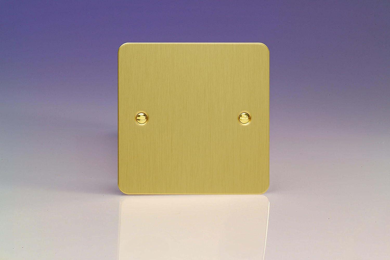 Varilight - 1G Blank Plate Ultra Flat Brushed Brass - XFBSB