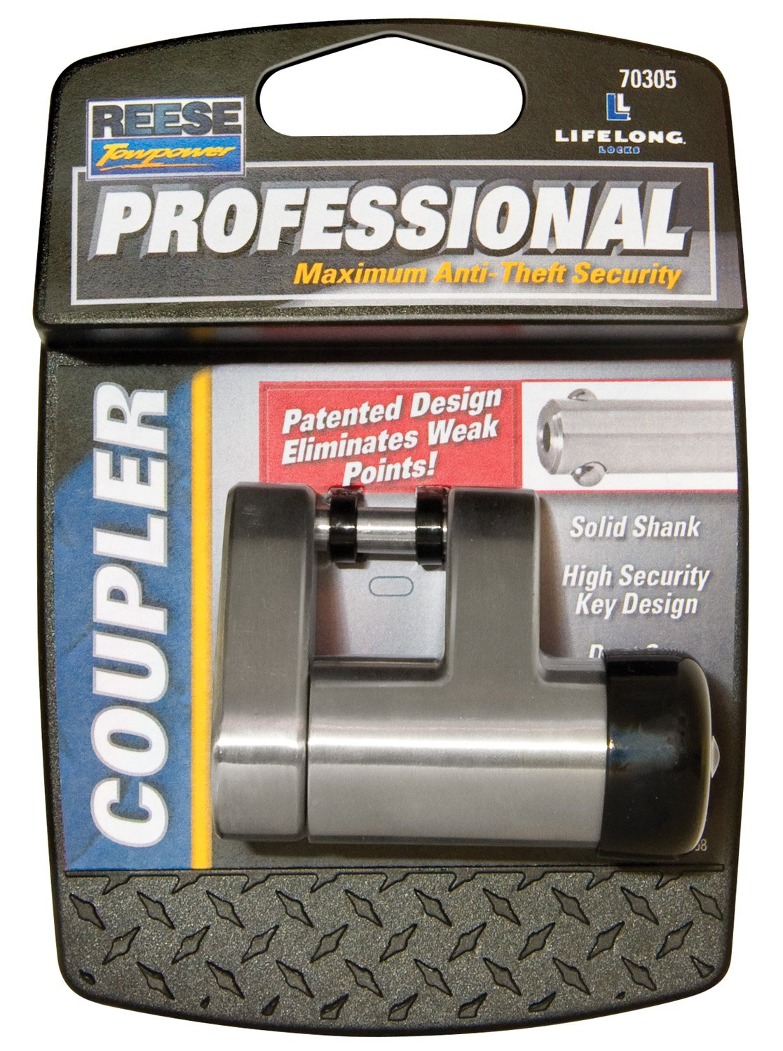 Reese Towpower 70305 Professional Chrome Coupler Lock by Reese Towpower