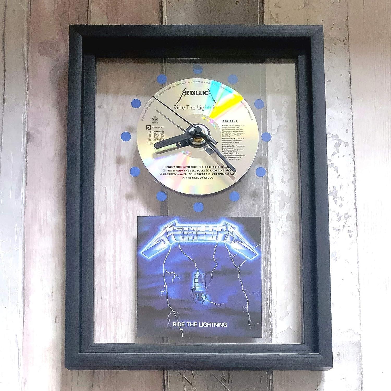 GERAHMTE CD-WANDUHR//Exklusives Design METALLICA Anger St
