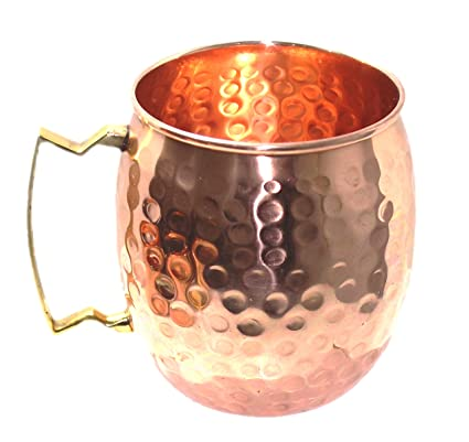Oz Moscow Mug Brass Craft Mugs 16 Handle Street 100Authentic Copper With Cups Mule Hammered DH9Ie2WYE