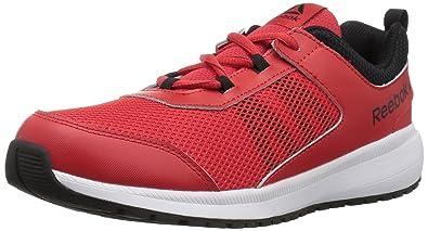 c8e337b62e3ead Reebok Unisex Road Supreme Sneaker Primal red Black White 1 M US Little Kid