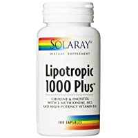 Solaray Lipotropic 1000 Plus Vitamin Capsules | 100 Count