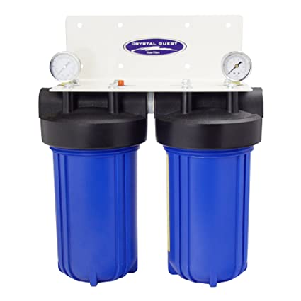 home water filter system. CRYSTAL QUEST Whole House Double 10\u0026quot; X 5.0\u0026quot; Water Filter System Home Water Filter System
