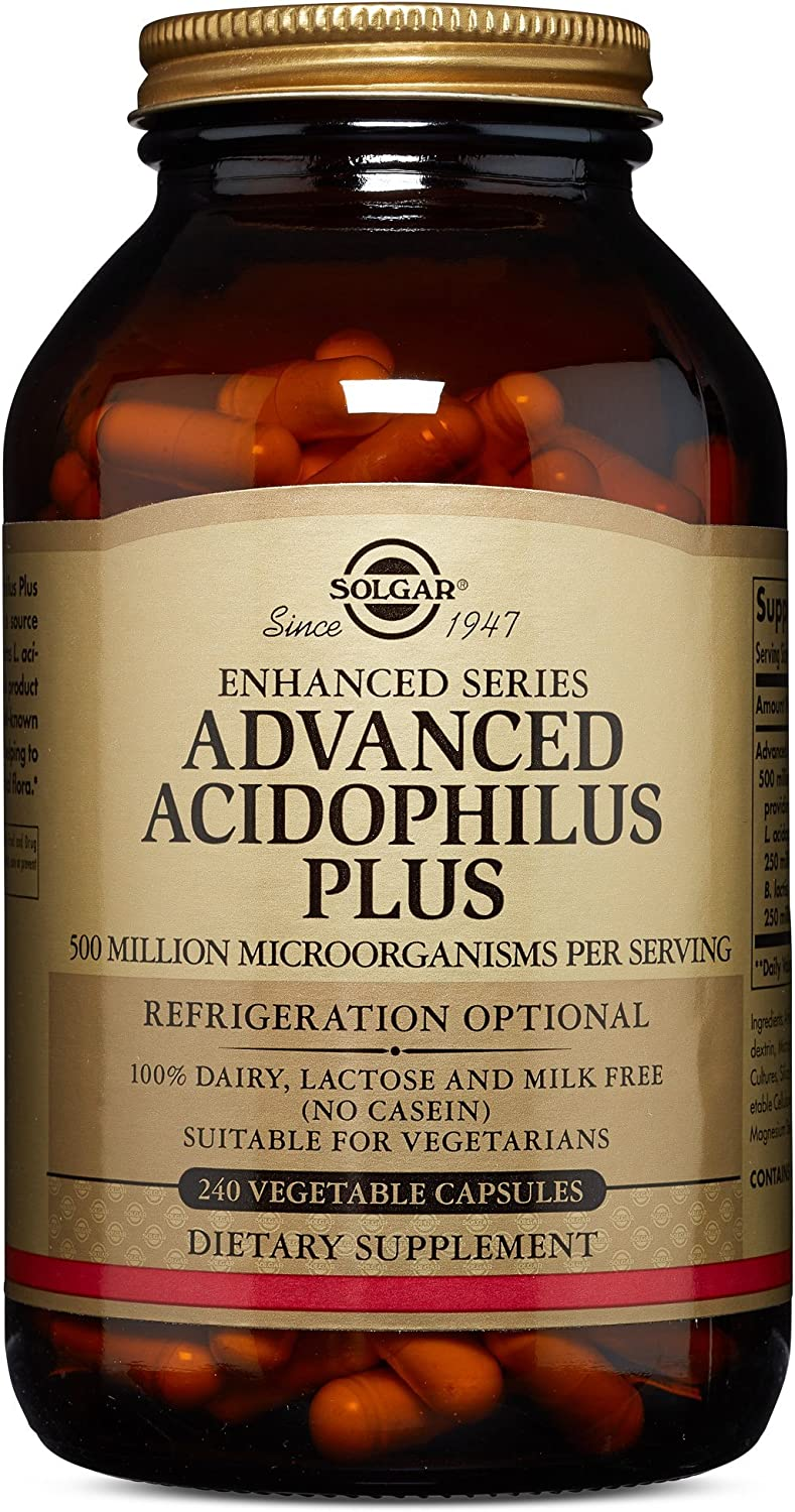 Solgar – Advanced Acidophilus Plus, 240 Vegetable Capsules