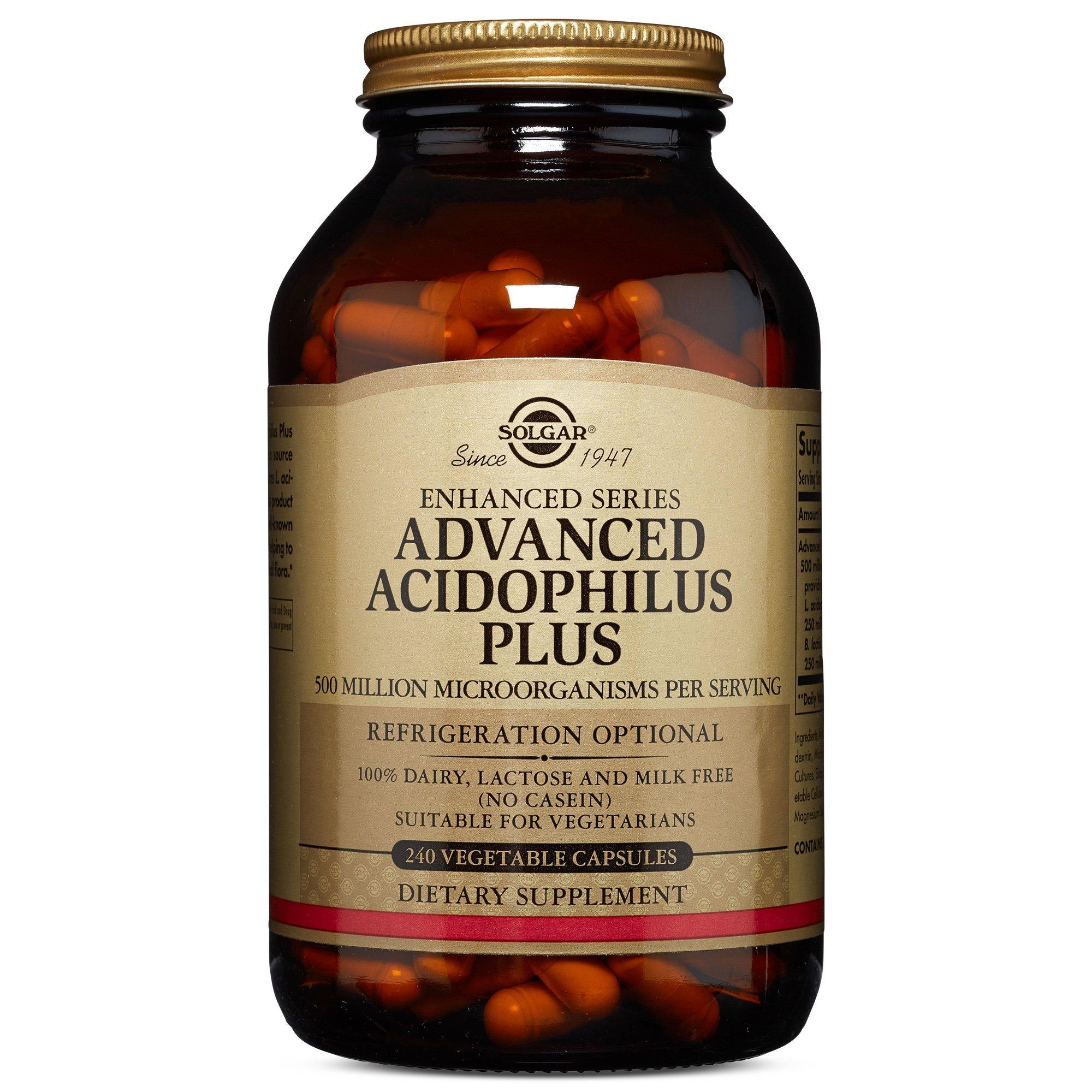 Solgar – Advanced Acidophilus Plus, 240 Vegetable Capsules