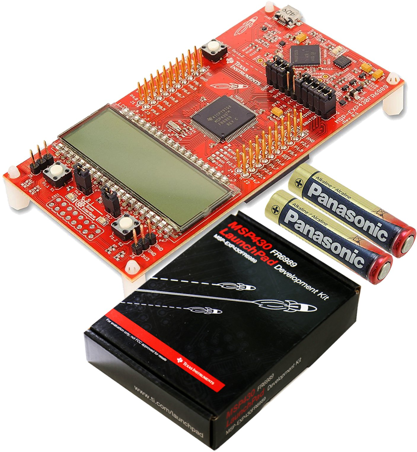 MSP-EXP430 FR6989 Texas Instruments Embedded Evaluation Board (BONUS 2- AAA BATTERY)- LaunchPad - MSP-EXP430FR6989