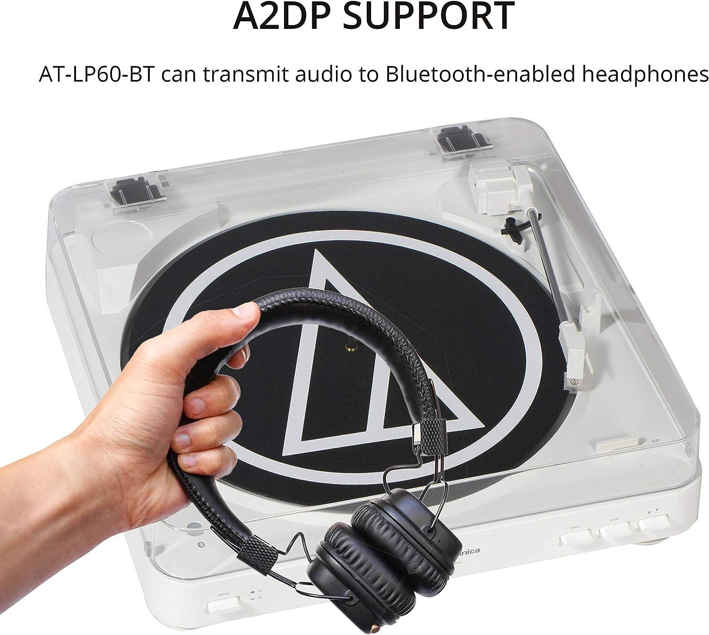 Audio Technica AT-LP60WH-BT tocadiscos con Bluetooth inalámbrico ...