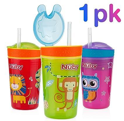 Nuby ID10373 - Taza para bebidas y snacks, 270 ml