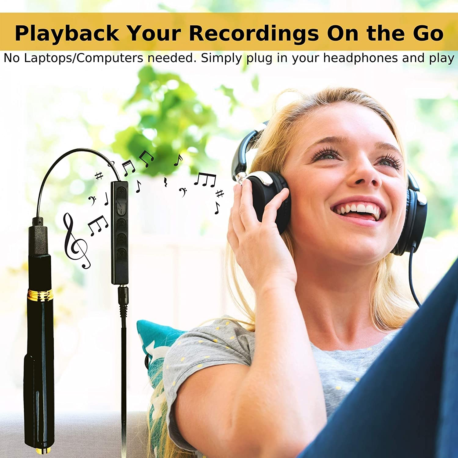 MP3 Player| Easy to Use Meetings Mini Recorder USB Tape Recorder for Lectures Voice Activated Recorder with Playback Audio Recorder interviews| Bonus Value Digital Voice Recorder 32GB