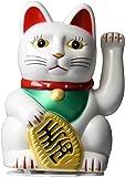Happy Sales HSFC-WCW02 Maneki Neko Lucky Fortune Cat White Waving Arm