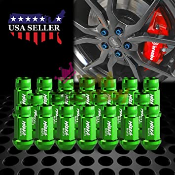 GOLD JDM Tuner Extended Lug Nuts for Wheels Rims M12X1.5 60mm Aluminum 20PCS
