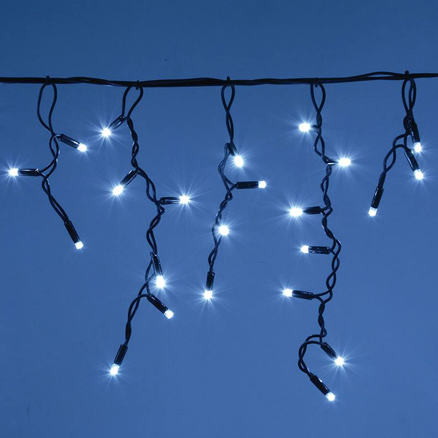 ICICLE Lights 480 LED Bright white Indoor & Outdoor Christmas Lights ...